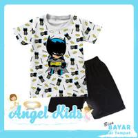 Setelan Pendek Baju / Kaos Anak Laki-laki SINISTER BATMAN 1 - 10 Tahun