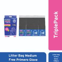 TriplePack Litter Bag Medium Free Primero Hand Glove