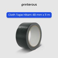 Cloth Tape Hitam / Lakban Kain Hitam Besar - 48 mm x 11 meter