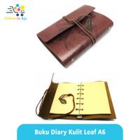 Buku Catatan Diary Notebook A6 Gambar Sketsa Polos Leaf - Brown