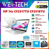 "HP 14s CF2517TU CF2518TU i3-10110U 4GB 256GB SSD 14"" WIN10 OHS"
