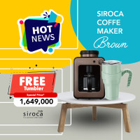 Siroca Fully Automatic Coffee Maker - Brown