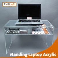 Meja Laptop Acrylic + Laci Multifungsi