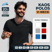 Tshirt / Kaos Polos Vneck Super Cotton 20s Unisex