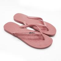 Sandal Jepit Wanita Sendal Kasual Motif Nyaman Glanzton Glossy L1819