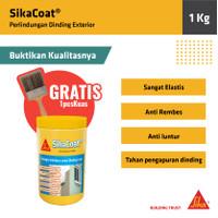 SikaCoat Cat Pelapis Anti Bocor Elastis Dinding Tembok Luar 1Kg