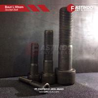 """Baut L / Socket Cap Screw Baja Hitam M10x90 Half Drat """"YFS"""""""