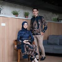 Batik Couple Kebaya Brukat Modern Baju Pasangan Pesta Tunangan Murah