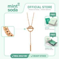 Mint Soda Korea - Kalung Emas 18K / 750 - FreeStyle Toggle