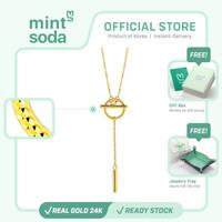 Mint Soda Korea - Kalung Emas 24K / 999 - FreeStyle Toggle