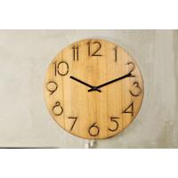 Jam Dinding / Clock Model Wood Classic - Diameter 30 cm