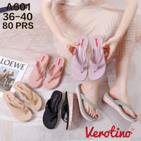 Sandal Wedges Wanita Hak Tinggi Sendal Kasual Verotino Doff A601