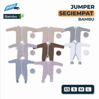 Jumper Bayi Polos / Baby Jumper Segiempat Panjang Katun Bambu