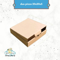dus pizza 20 x 20 x 5 cm kotak kemasan polos coklat bungkus kardus