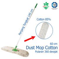 Pendorong Debu Dust Mop Cotton 60 cm Kain Pel Cotton Cleanmatic 211449