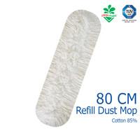 REFILL Pendorong Debu Dust Mop Cotton 80 cm Kain Pel Cleanmatic 211470
