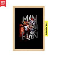 MAN WITH A PLAN Poster Dinding Motivasi Bingkai Kayu A4+ SK1210Y