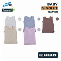 Baju Singlet Bayi / Singlet Bayi Polos Katun Bambu