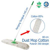 Pendorong Debu Dust Mop Cotton 80 cm Kain Pel Cotton Cleanmatic 211463