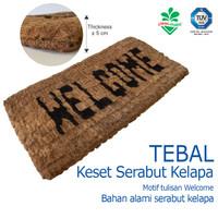 Keset Tebal serabut kelapa welcome coco mat thick 180158 cleanmatic
