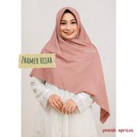 Hijab Umama Voal Miracle Syar'i Kerudung Segiempat Jilbab Syari 1 - Pinkish Apricot