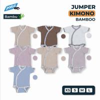 Jumper Bayi Polos / Baby Jumper Kimono Katun Bambu