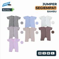 Jumper Bayi Polos / Baby Jumper Segiempat Pendek Katun Bambu