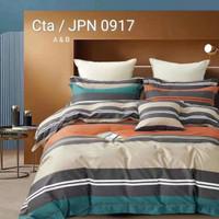 Sprei Katun Jepang Motif kotak Flanel minimalis abstrak elegan - 120x200