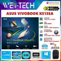 "ASUS VIVOBOOK K513EA i3-1115G4 8GB 512GB SSD 15.6""FHD WIN10 OHS"
