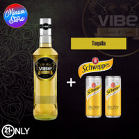 VIBE TEQUILA + 2 Kaleng Schweppes Tonic Water