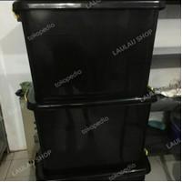 Container Box Hitam CB 150 Liter Kotak Plastik Rak Susun Baju Shinpo