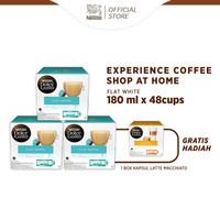 NESCAFE Dolce Gusto 3 Box Flat White + Free 1 Box Latte Macchiatto
