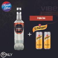 VIBE TRIPLE SEC+ 2 Kaleng Schweppes Tonic Water