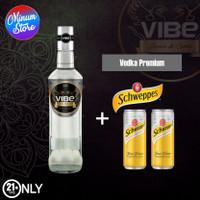 VIBE VODKA PREMIUM + 2 Kaleng Schweppes Tonic Water
