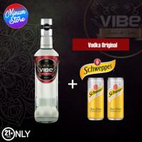 VIBE VODKA ORIGINAL + 2 Kaleng Schweppes Tonic Water