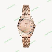 Fossil Scarlette Mini Three-Hand Date Rose Gold-Tone Watch