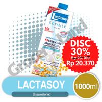Lactasoy Unsweetened 1 ltr - Susu Kacang Kedelai Plain Soya Milk