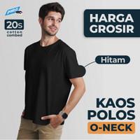 GROSIR Kaos Polos Hitam Cotton Combed 20s Premium