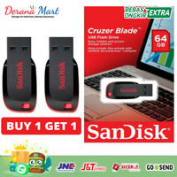Original Flashdisk Sandisk 64 GB Beli 1 Dapat 1