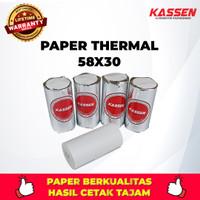 KASSEN KERTAS THERMAL PAPER ROLL UKURAN 58 x 30