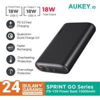 Aukey Powerbank PB-Y39 Sprint Go Mini 15000mAh PD Powerbank - 500550