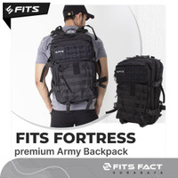 Fortress Army Backpack   Tas Ransel Waterproof Olahraga Tas FITS FACT