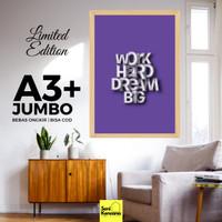 Poster Dinding Self Motivation A3+JUMBO Bingkai Kayu Premium SK1610D