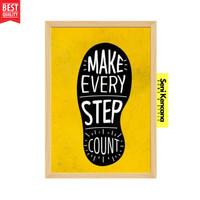 Poster Dinding Self Motivation A4+ Bingkai Kayu Premium SK1610G