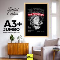 Dekorasi Dinding THE OLYMPIAN A3+JUMBO Bingkai Kayu Premium SK1610C