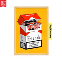 Hiasan Dinding FRIENDS AND LAUGH A3+JUMBO Bingkai Kayu Premium SK1610F