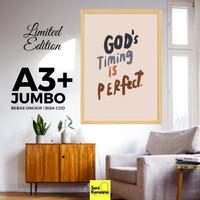 Hiasan Dinding Rohani Kristen A3+JUMBO Bingkai Kayu Premium SK1610E
