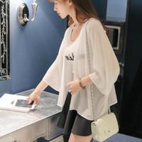 Basi id fashion outer basic kimono lucia [ ld 100cm pjg 65 cm ] uk xl - Putih, XL