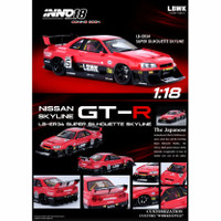 Inno 18 Nissan Skyline LBWK ER34 Super Silhouette Red 1/18 Resin