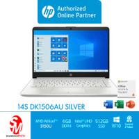 NOTEBOOK HP 14S DK1506AU ATHLON 3150U 4GB 512GB UMA WIN10+OHS SILVER